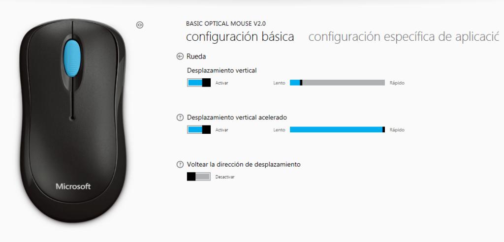 Centro de Mouse y Teclado Microsoft