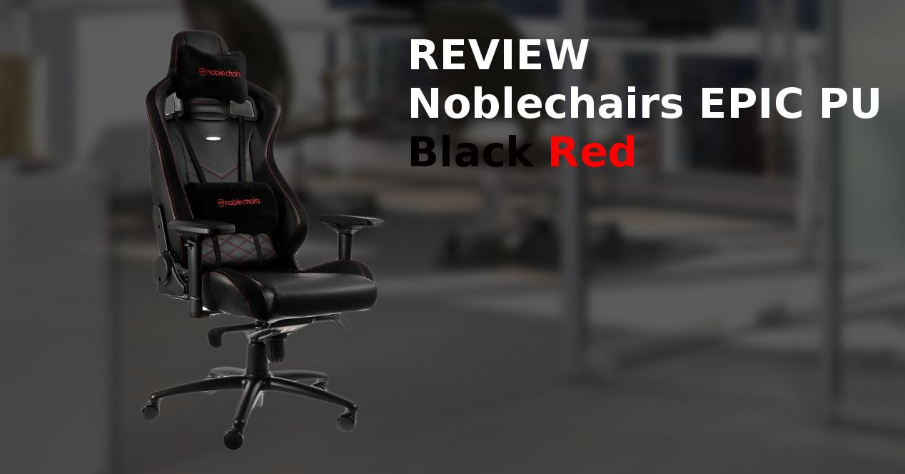 Noblechairs EPIC PU Black Red