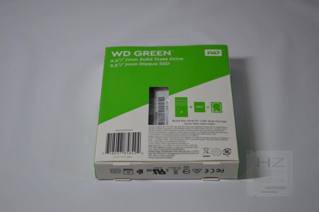 SSD Western Digital Green 240 GB - Caja trasera