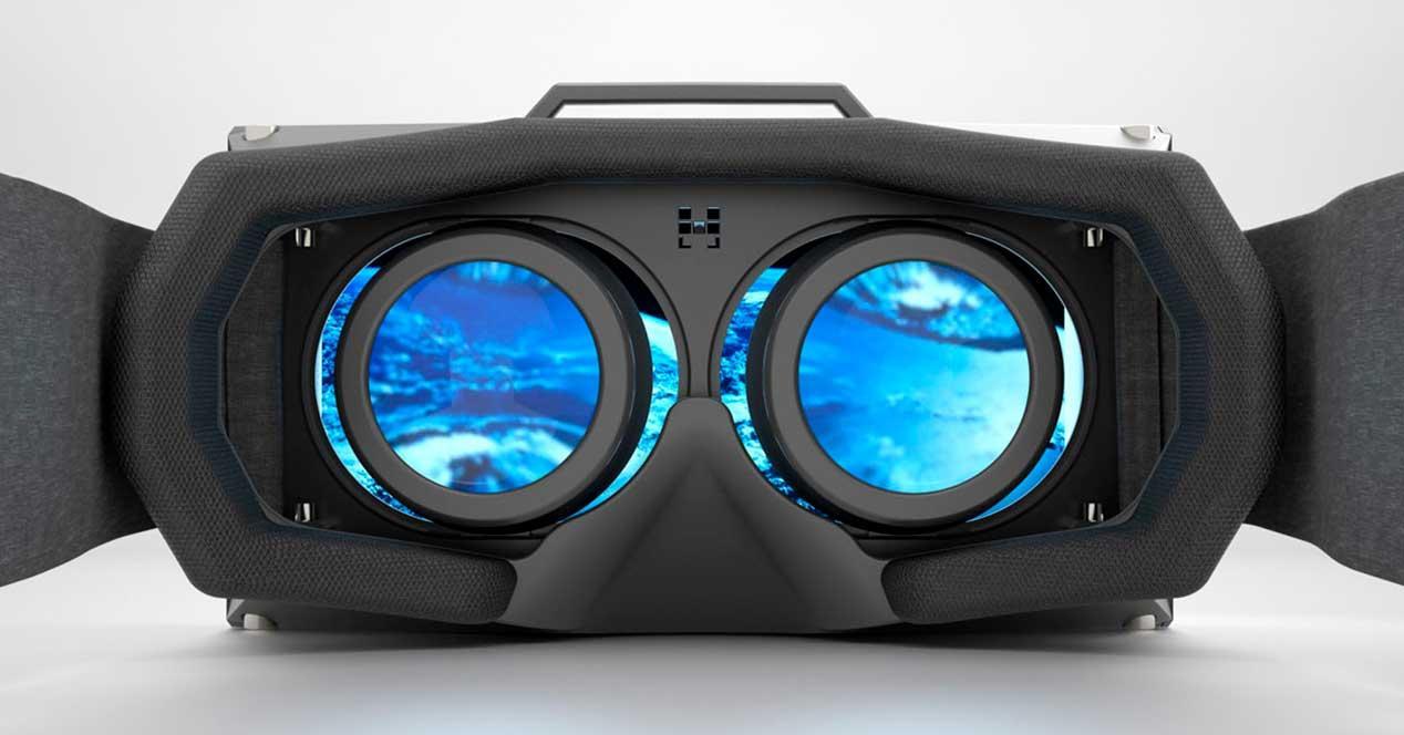 realidad virtual pantalla