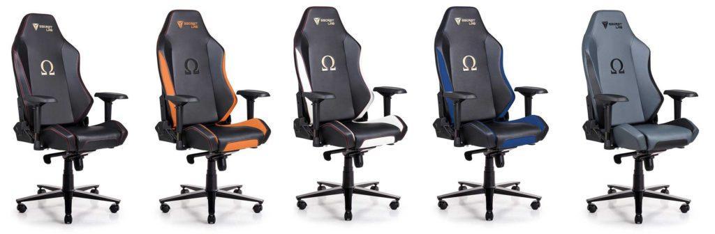 secretlab omega 2018 todos los colores