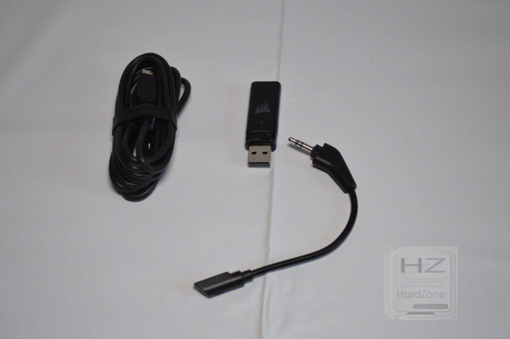Corsair HS70 - Cable, receptor y micro