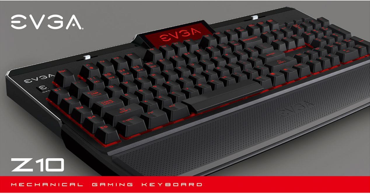 EVGA Z10 teclado mecánico pantalla LCD
