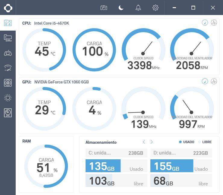 NZXT KRAKEN X72 - CAM - 100% ventiladores