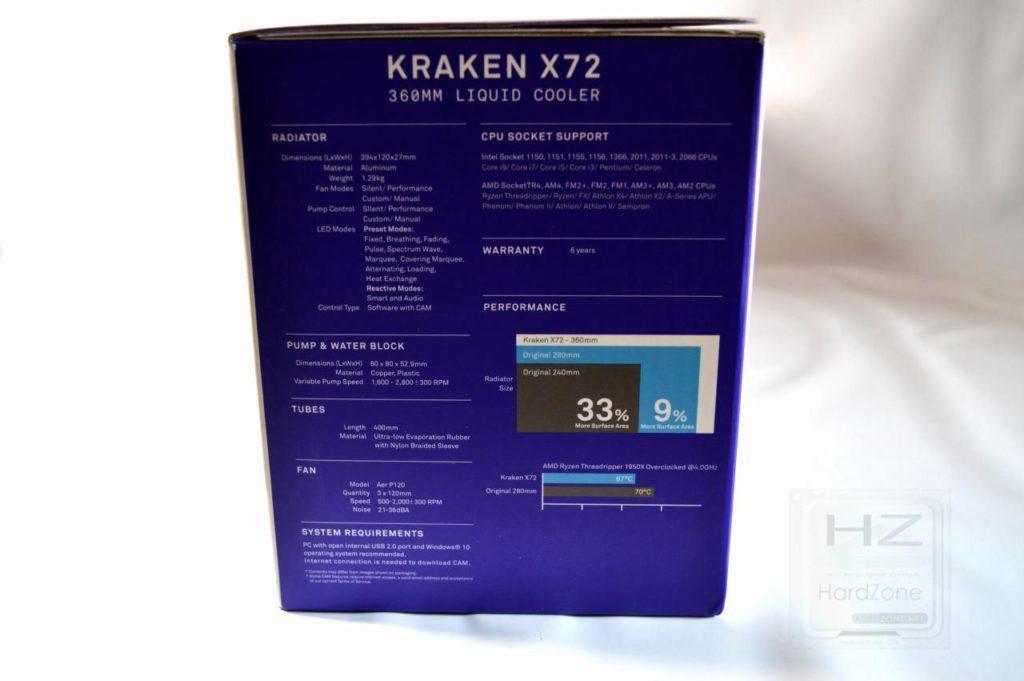 Refrigeración líquida NZXT KRAKEN X72 - Lateral 1