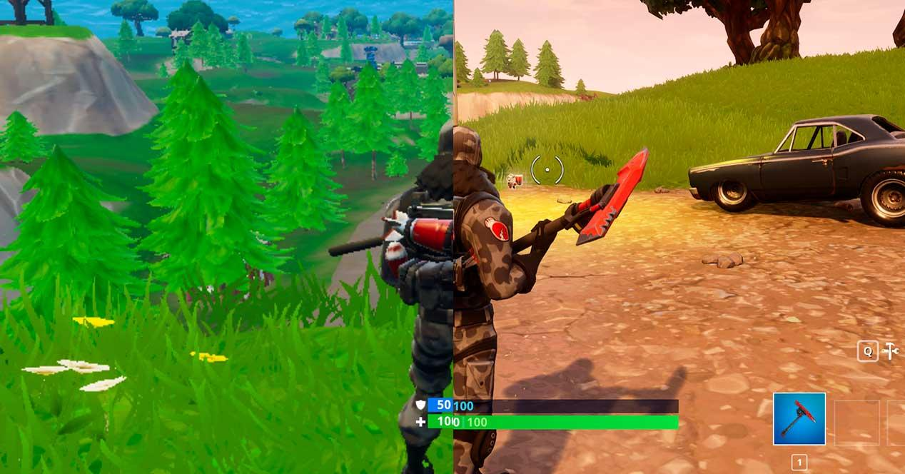 fortnite graficos alto vs bajo fps