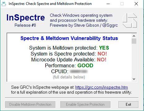 inspectre actualizacion