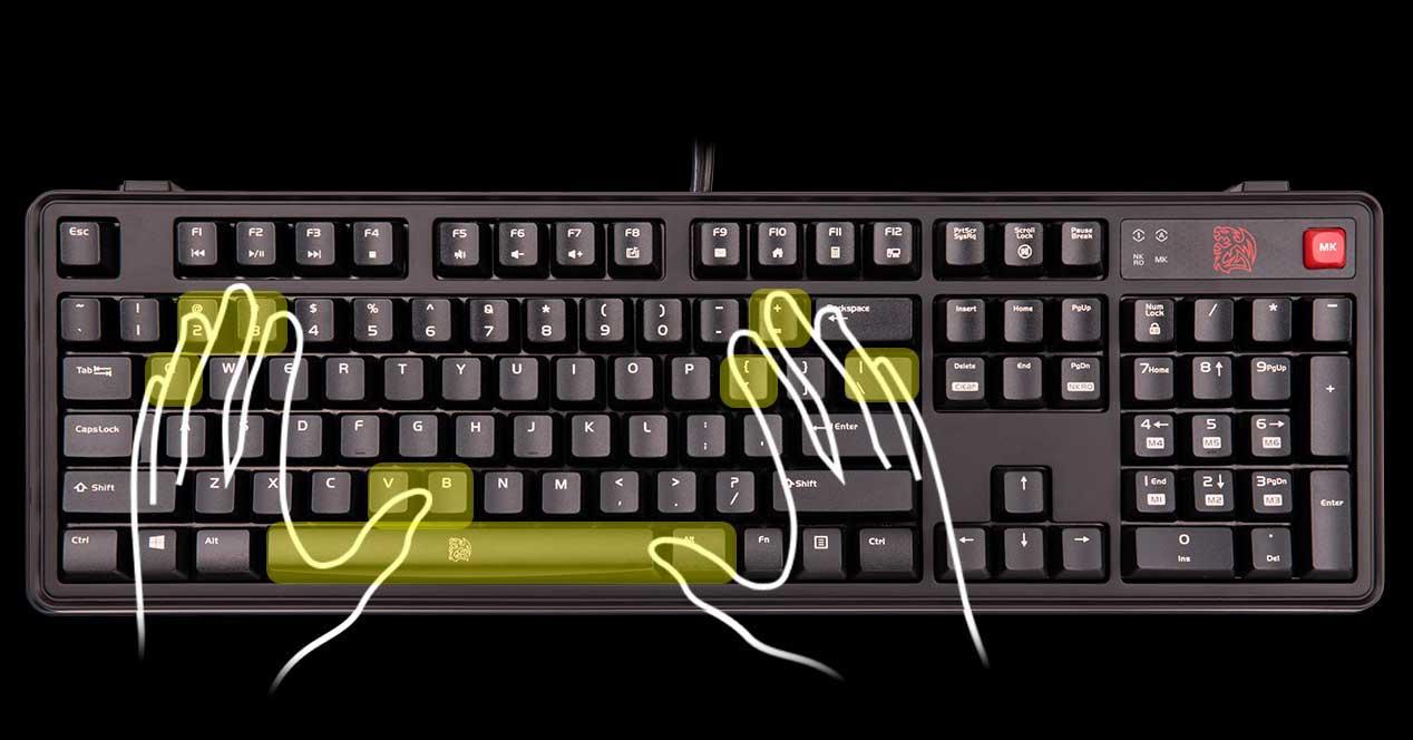 n-key rollover anti-ghosting jamming