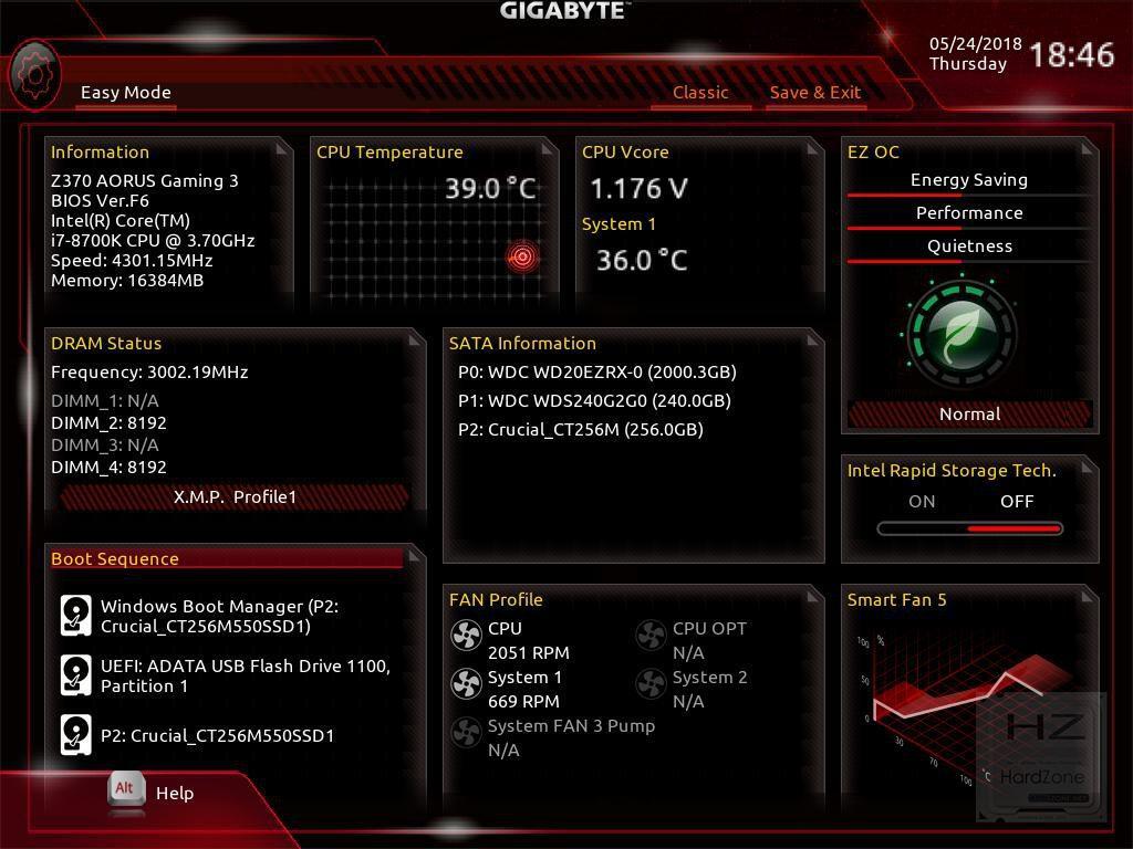 AORUS Z370 Gaming 3 - BIOS 10