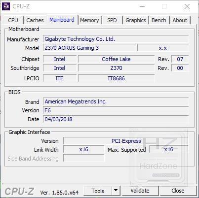 AORUS Z370 Gaming 3 - CPUZ 2