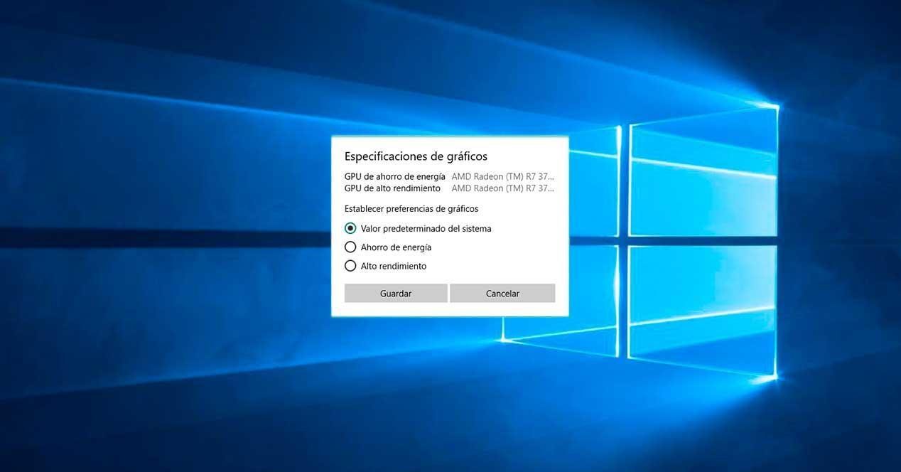 Cómo elegir la gráfica para usar con cada aplicación o juego en Windows 10 April 2018 Update