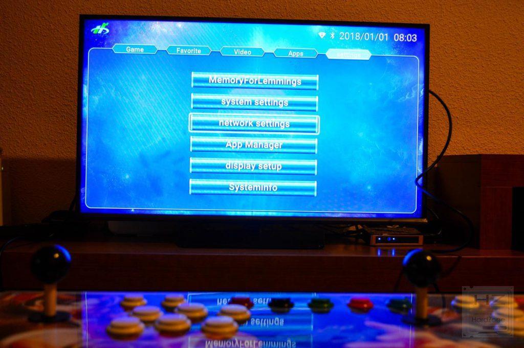 Consola arcade 1760 en 1 - Ajustes