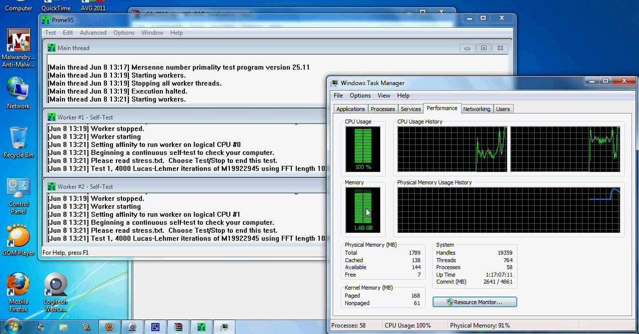 Como Monitorizar Las Temperaturas De Tu Procesador Con Prime95