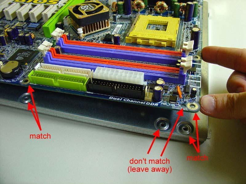 Separadores placa base montar PC