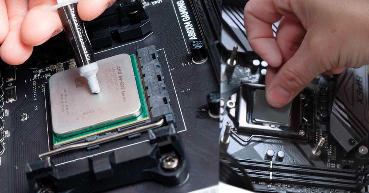 Resultado de imagen de Cambiar la pasta térmica del micro procesador
