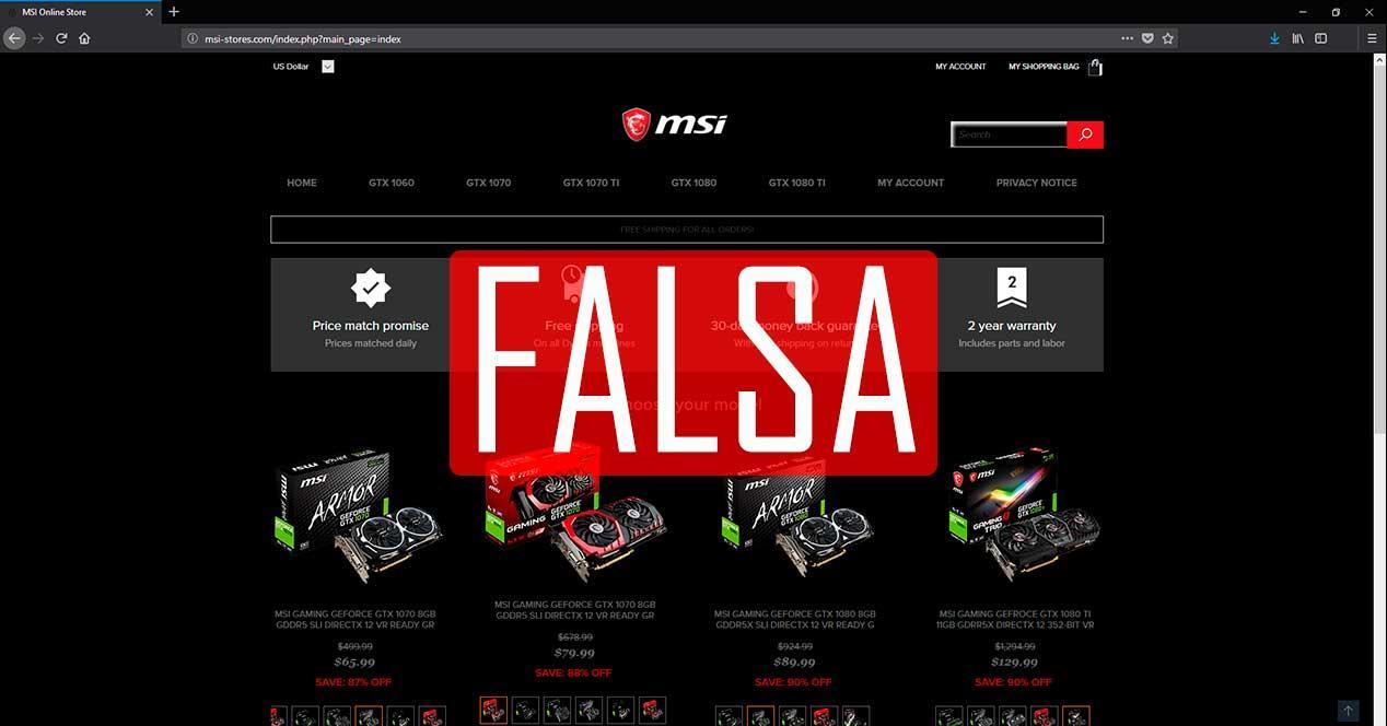 PAGINAS WEB FALSA MSI