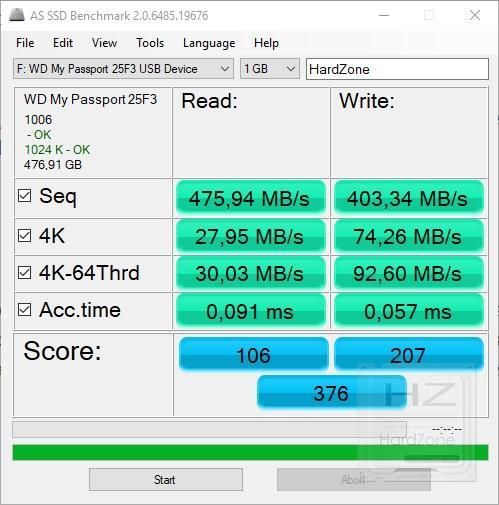 Western Digital My Passport SSD - AS SSD Benchmark
