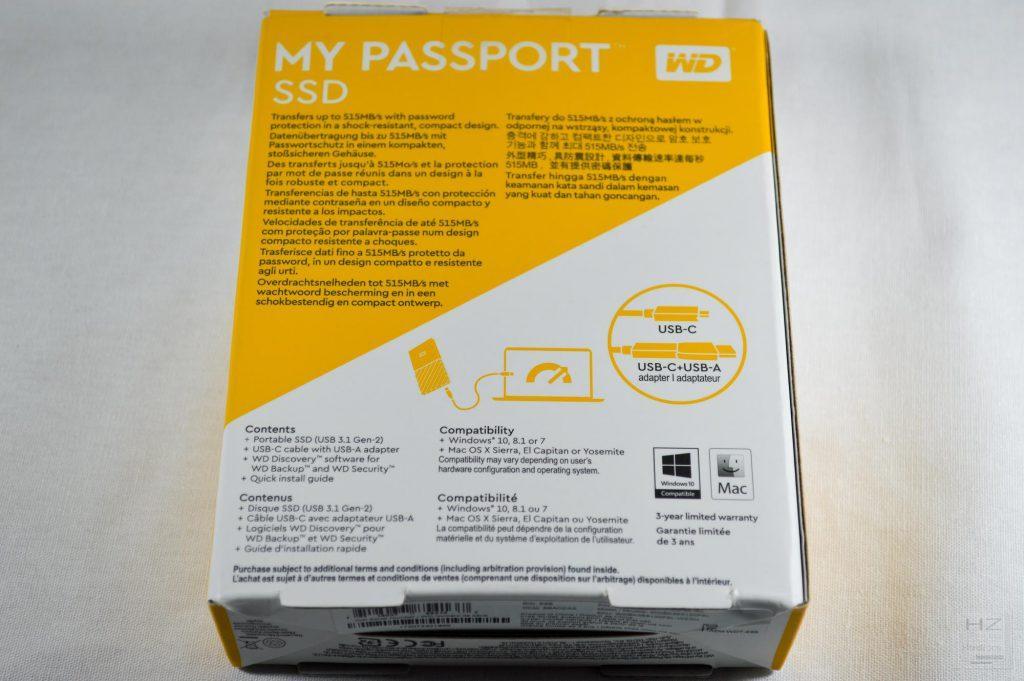 Western Digital My Passport SSD - Caja 3