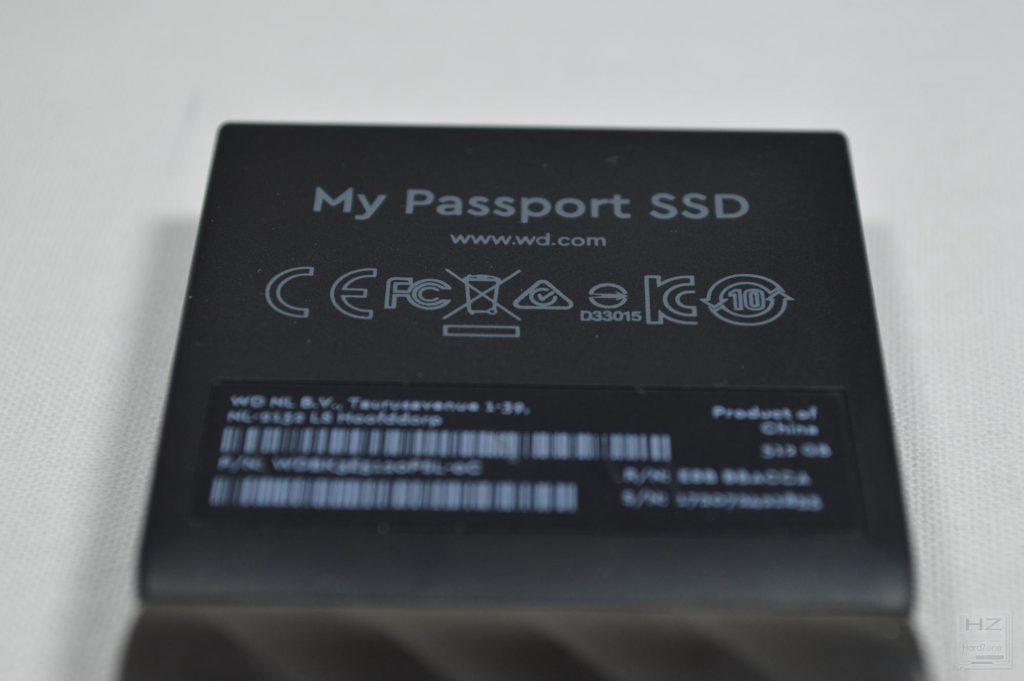 Western Digital My Passport SSD - Foto trasera