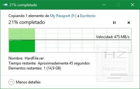 Western Digital My Passport SSD - Lectura