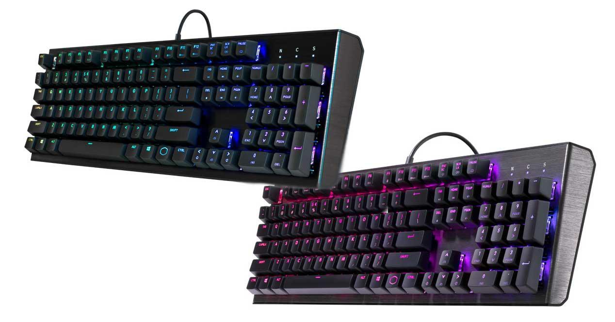 cooler master ck550 y ck552 teclado mecanico rgb