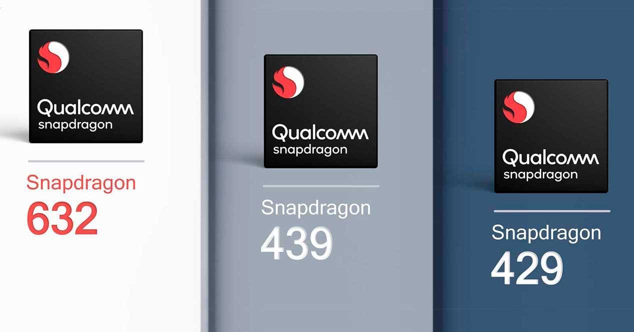 qualcomm snapdragon 632, 439 y 429