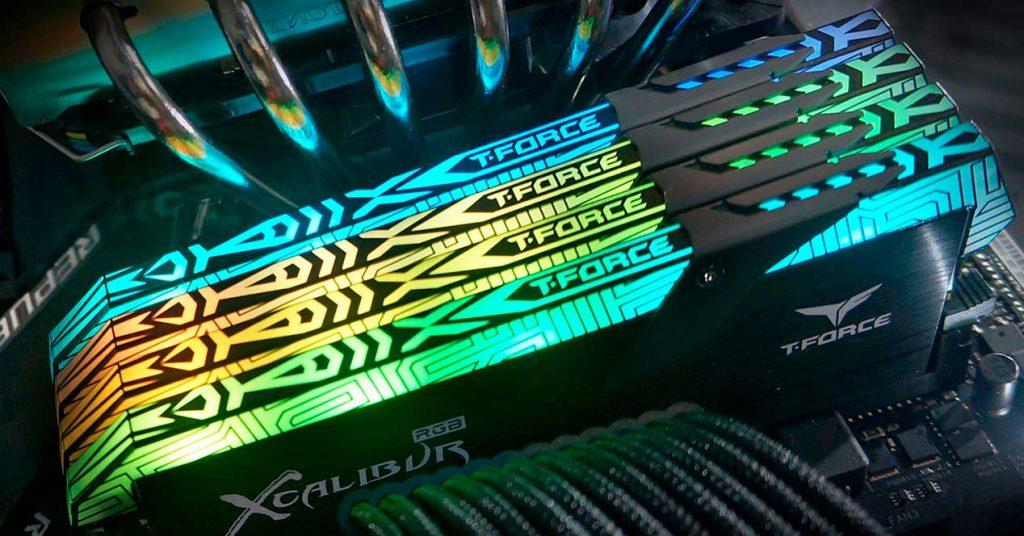 team group t-force xcalibur ddr4 memoria ram