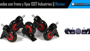 Review: 1337 Industries – Ruedas con freno y fijas para sillas gaming