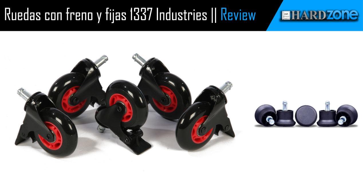 Ver noticia 'Review: 1337 Industries - Ruedas con freno y fijas para sillas gaming'