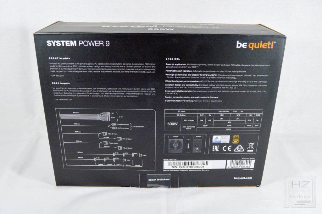 Análisis be quiet! System Power 9 600W - Caja 3