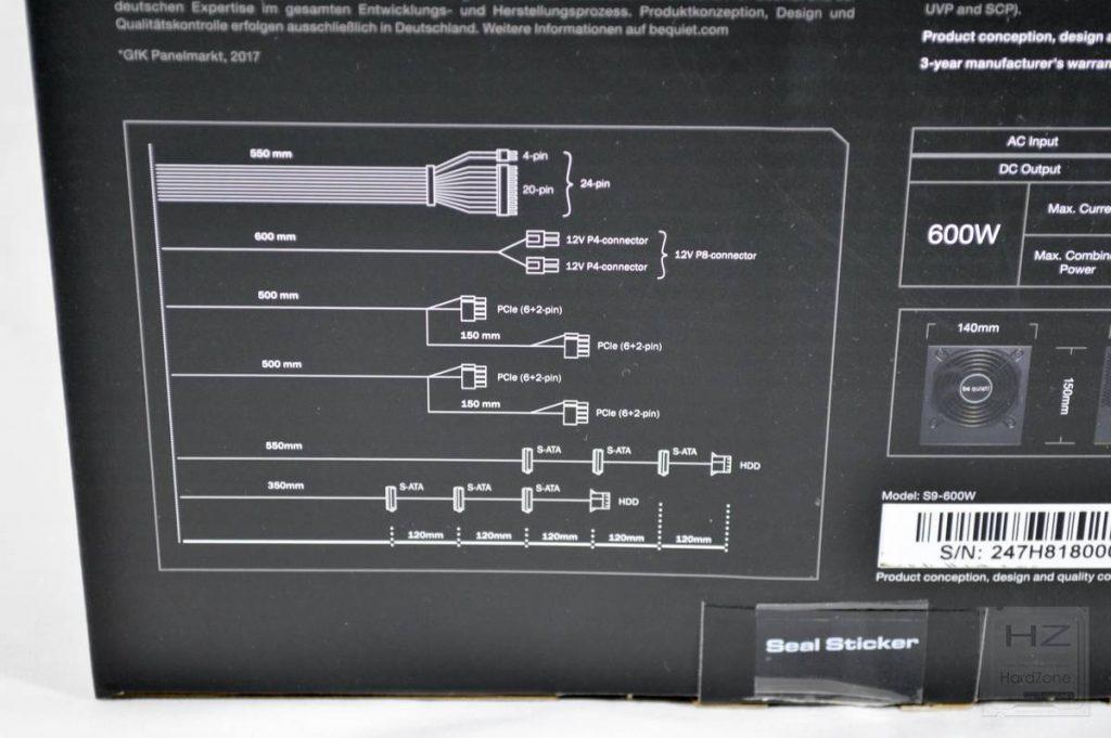 Análisis be quiet! System Power 9 600W - Caja 4