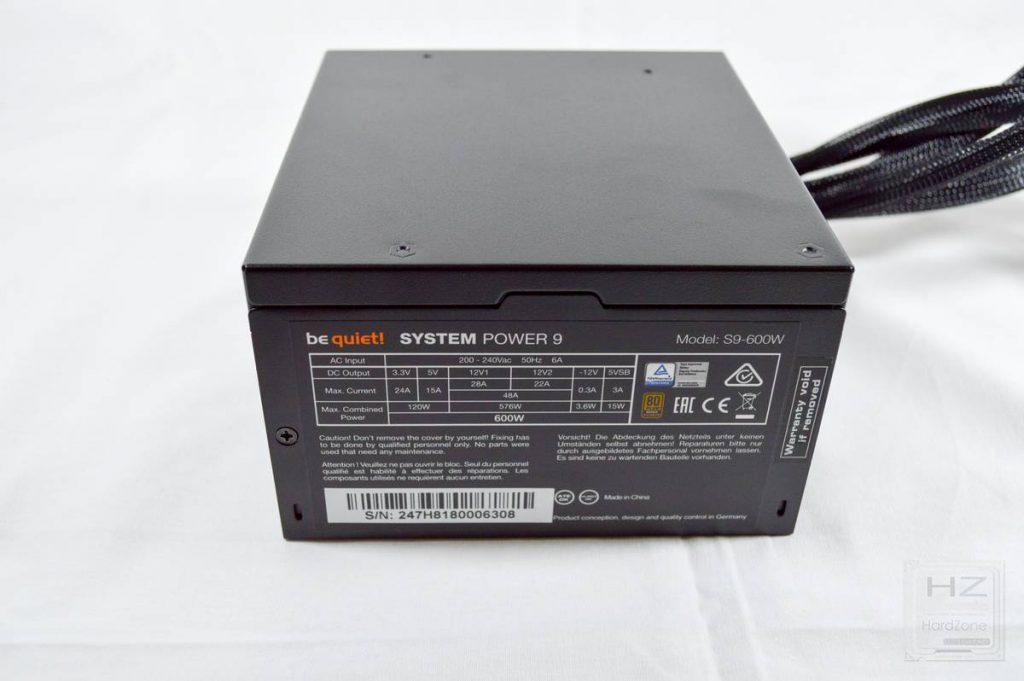 Análisis be quiet! System Power 9 600W - Fuente 7
