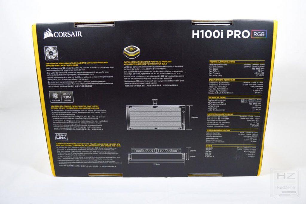 Corsair H100i PRO - Caja 4