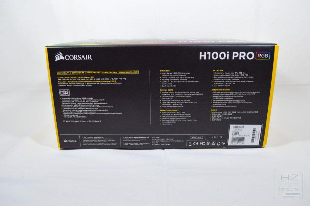 Corsair H100i PRO - Caja 6