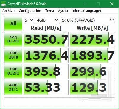 SSD Samsung 970 PRO - DiskMark64