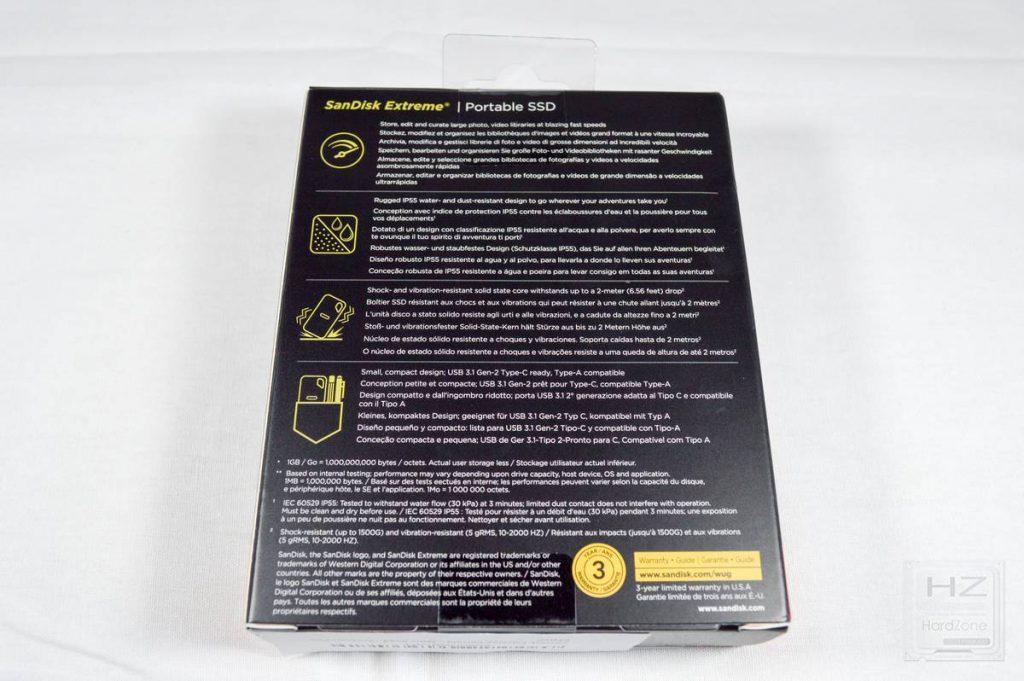 SanDisk Extreme Portable SSD - Caja 3