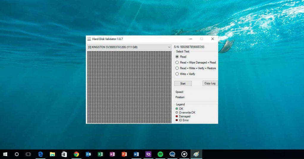 hard disk validator comprobar sectores defectuosos disco duro