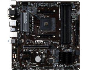 msi placas base amd b450
