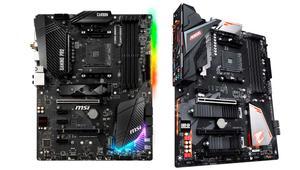 Gigabyte y MSI muestran 14 placas base AMD B450 antes de su lanzamiento