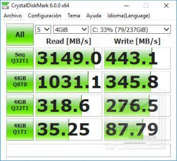 HP Omen 15 (2018) - CrystalDiskMark