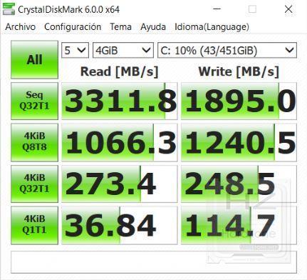 Lenovo Yoga 730 - CrystalDiskMark