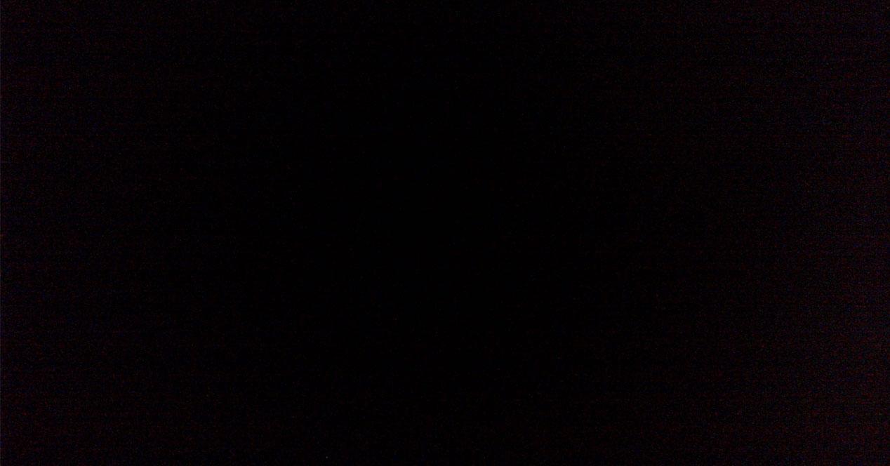 pantalla en negro