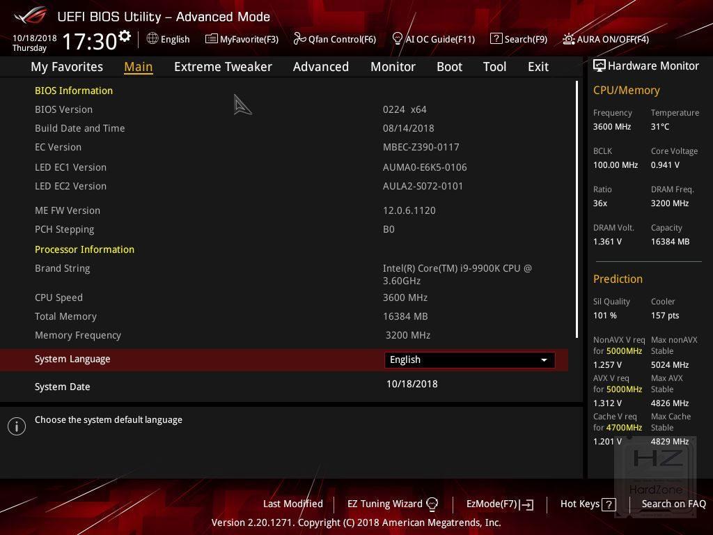 ASUS Z390 MAXIMUS XI HERO (WiFi) - UEFI - Review 1