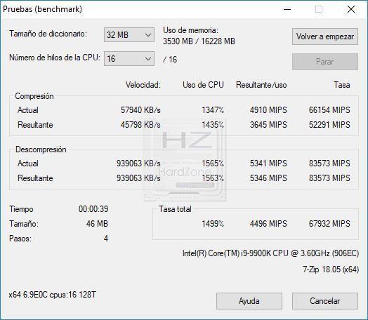 Intel i9 9900K 7Zip - Review 1