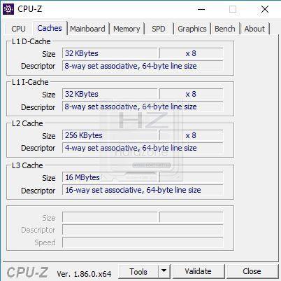 Intel i9 9900K CPU-Z - Review 1