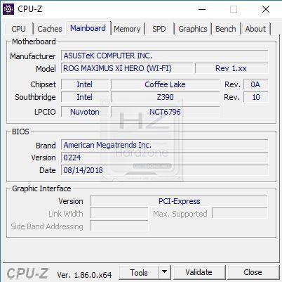Intel i9 9900K CPU-Z - Review 2