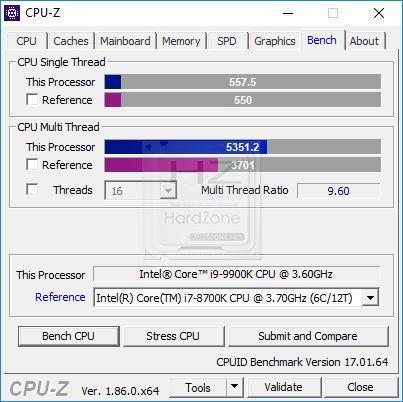 Intel i9 9900K CPU-Z - Review 6