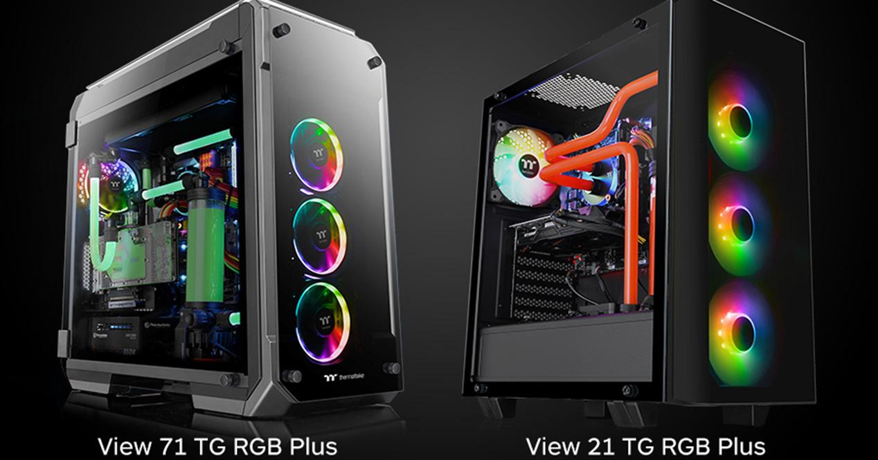 Ver noticia 'Thermaltake View 71 y View 21: nueva caja con RGB Plus y compatible con Amazon Alexa'