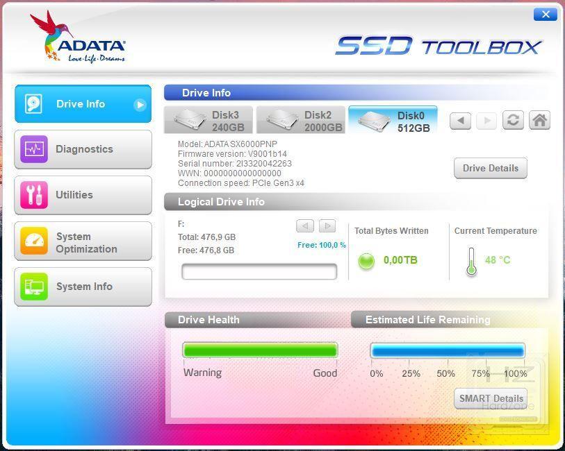 XPG SX6000 Pro - Benchmark 1