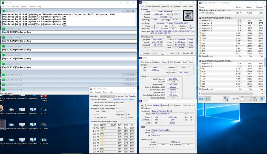 i9-9900K Gigabyte oc 4